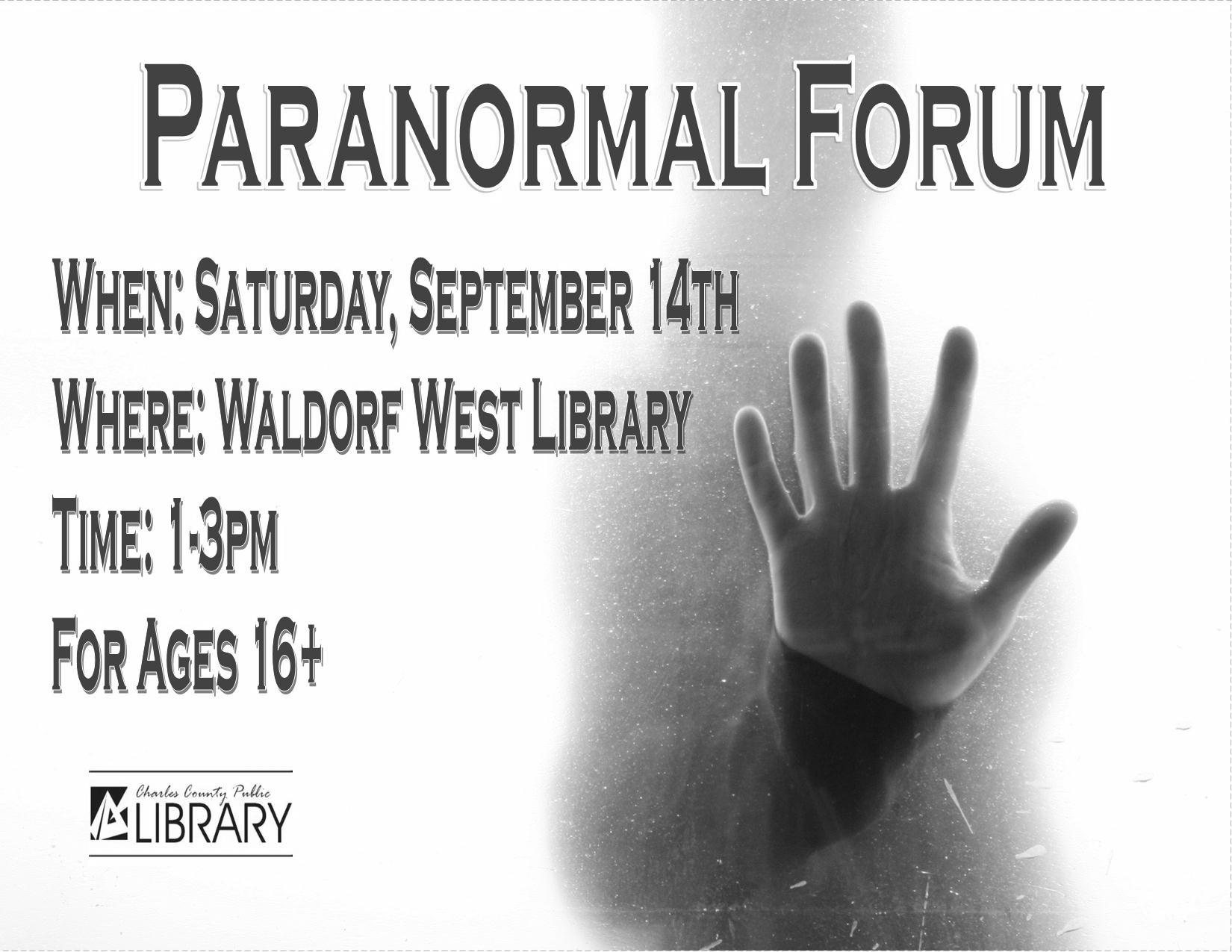 Paranormal forum greyscale
